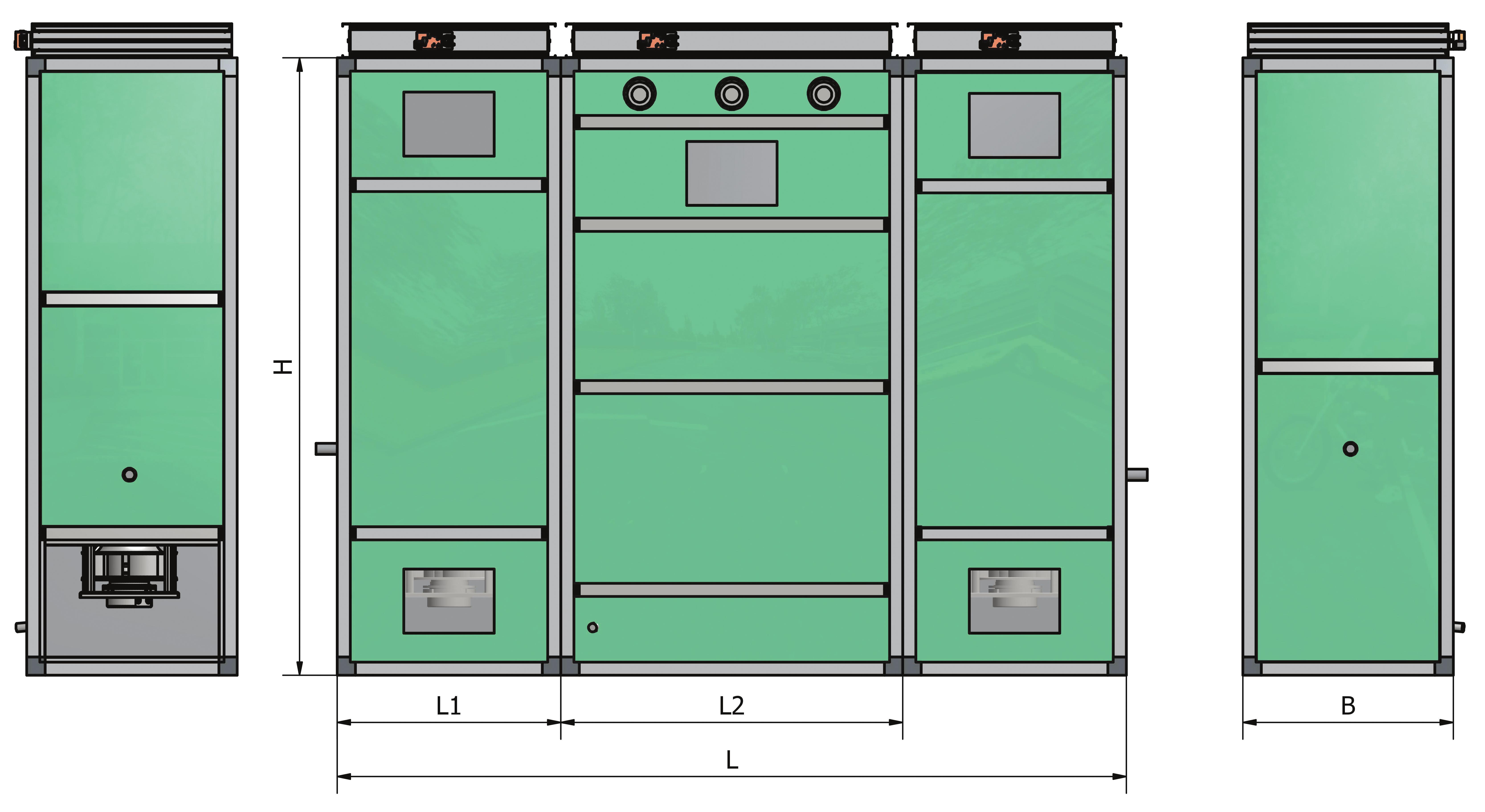 Wybitny Szafa klimatyzacji precyzyjnej. 7 wielkości - Frapol EX02