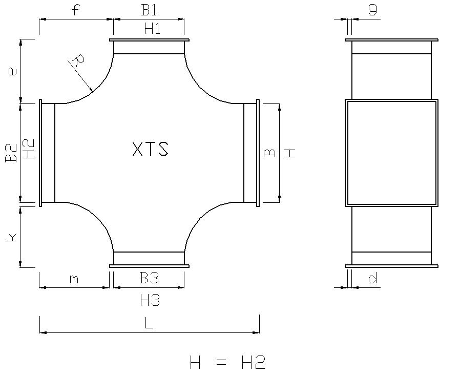kanał wentylacyjny prostokątny
