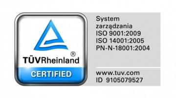 Recertyfikacja Systemu ZSZ przez TUV Rheinland